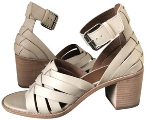 94cc661d3fee Frye Heeled New Neutral White Sandals. Frye White Bianca Huarache 2 Piece  Women s Sandals Size ...