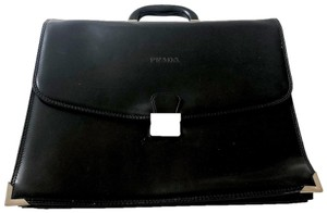 Prada Briefcase Business Leather Laptop Bag