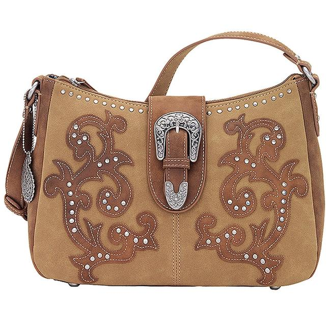 Item - Shady Cove Bandana Brown Faux Leather Shoulder Bag