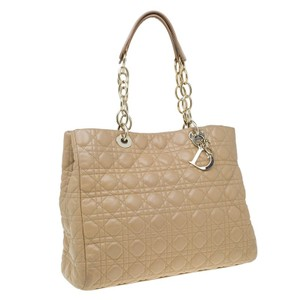 Dior Nylon Quilted Self Stitches Tote in Beige