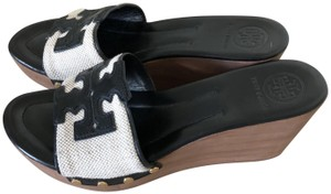 Tory Burch Black/Beige Sandals