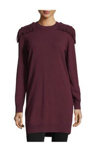 Burberry short dress Burgundy on Tradesy