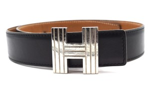 Hermès RARE 32Mm silver Kelly H Reversible Belt Leather size 70