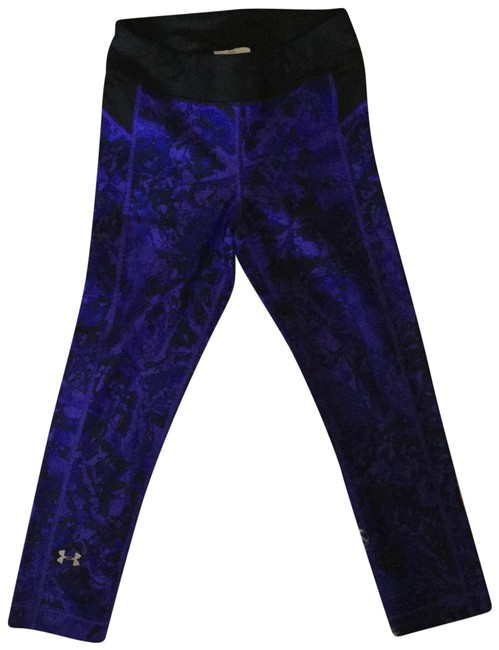Item - Black and Purple Heat Gear Activewear Bottoms Size 0 (XS)