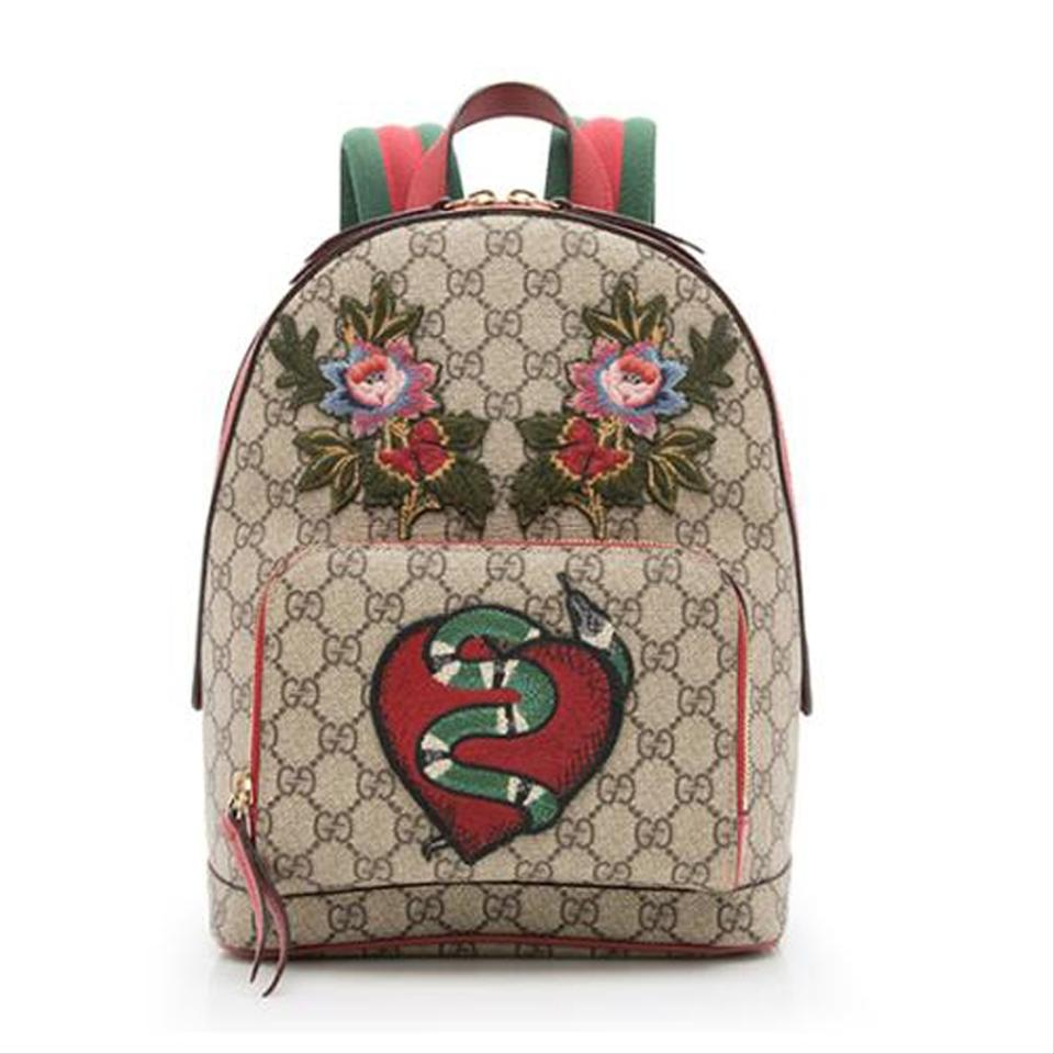 4848b33e44ec Gucci GG Supreme Limited Edition Multicolor Leather Backpack - Tradesy