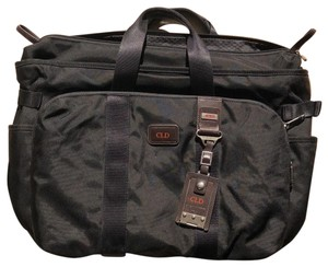 Tumi Office Black with BROWN leather details Travel Bag