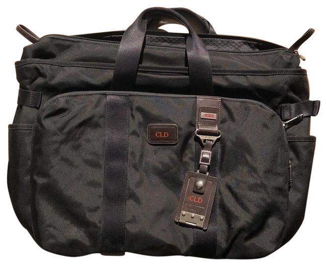 Item - Duffel Black with Brown Leather Details Nylon Weekend/Travel Bag