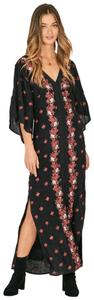 Black and Red Maxi Dress by Amuse Society Maxi Floral Boho Bohemian Party