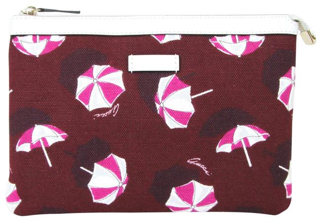 Item - Cosmetic Case Parasols 282071 5060 Red Canvas Clutch