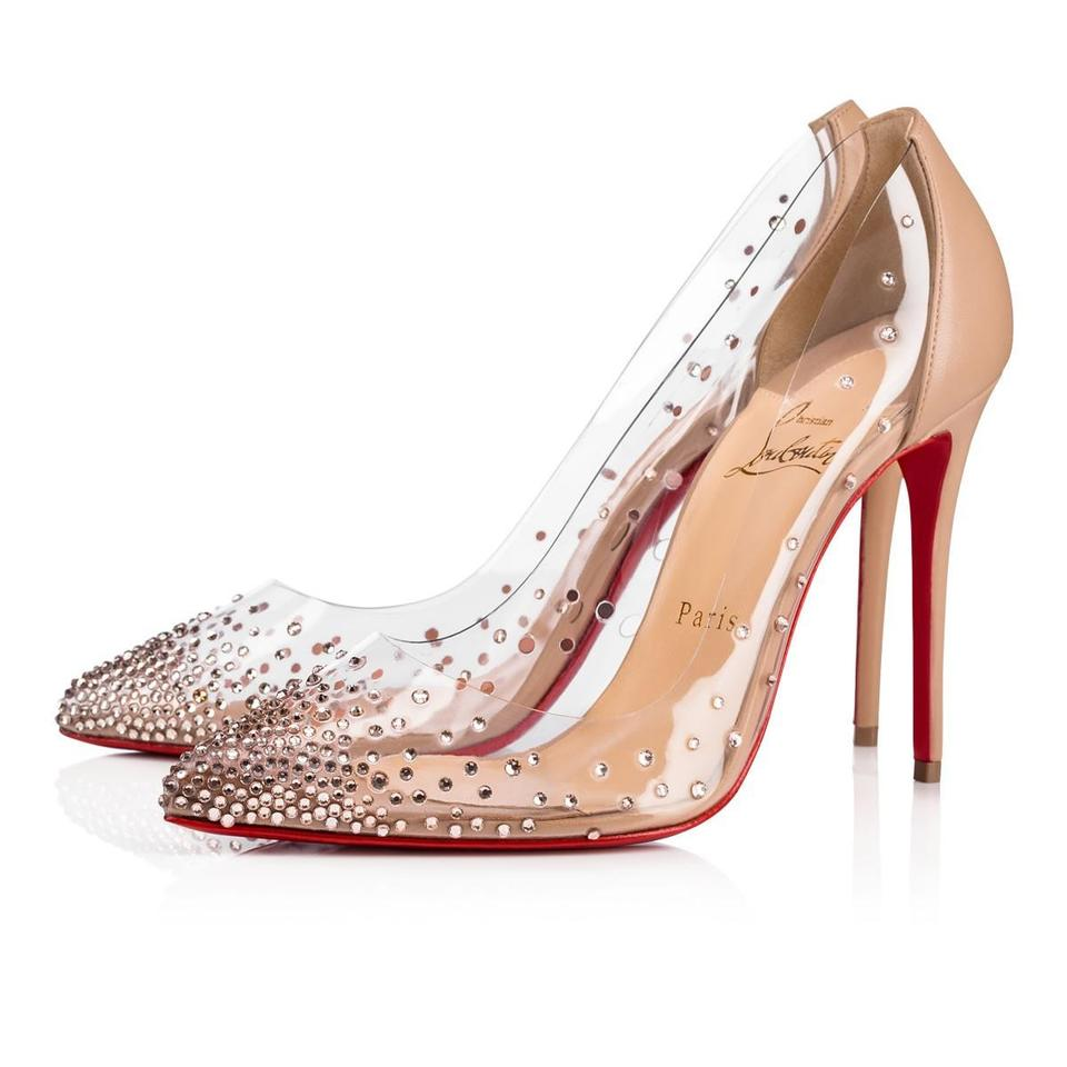 8b75a043392 Christian Louboutin Pigalle Follies Strass Crystal Degrastrass nude Pumps  Image 0 ...