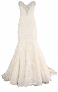 Allure Bridals White Lace Romance 2667 Formal Wedding Dress Size 14 (L)
