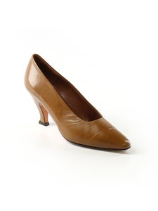 Paloma Blanca Vintage Leather Heels Brown/Bronze Pumps