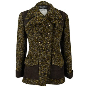 Chanel & Suede Suede brown tweed Jacket