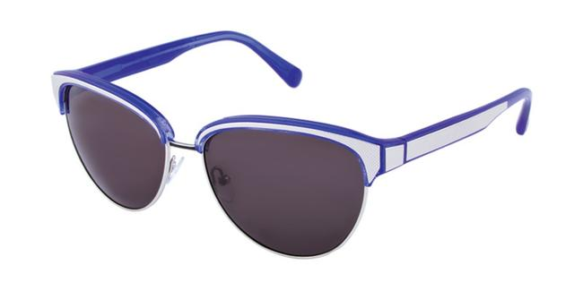 Item - Blue Carmine Rimmed Cateye Sunglasses