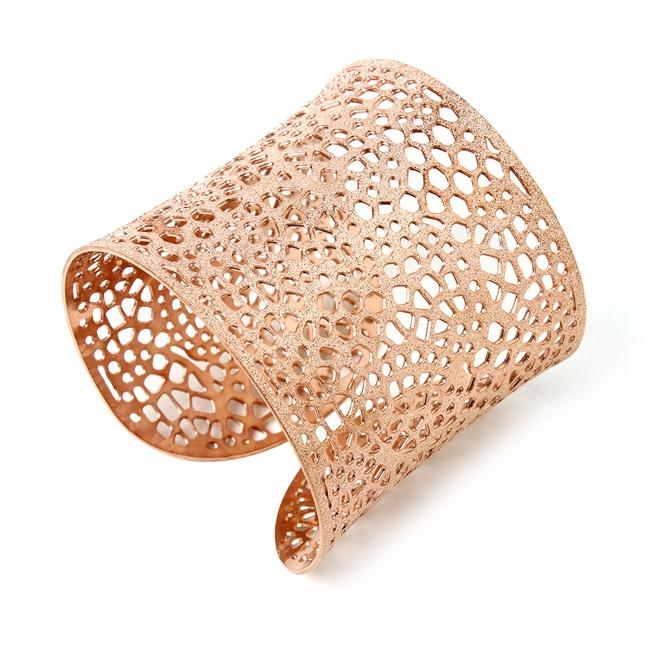 "Item - Rose Gold 2"" Cuff Amazing Filigree Bracelet"