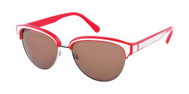 Item - Red Carmine Rimmed Cateye Sunglasses