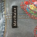 Méchant Butterfies Embroidery Ruffles Womens Jean Jacket Image 5
