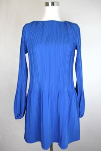 Maje Polyester Long Sleeve Pleated Dress