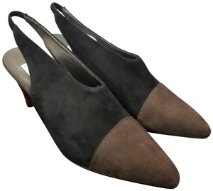 c323454ff8e Studio Paolo Brown Black Vintage Italy Two-tone Suede Heels Nwot ...