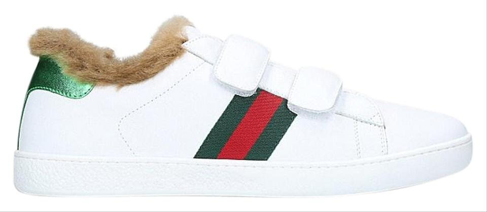 aade727f5c5 Gucci White Kids Fur Lined Sneakers Sneakers Size EU 35 (Approx. US ...