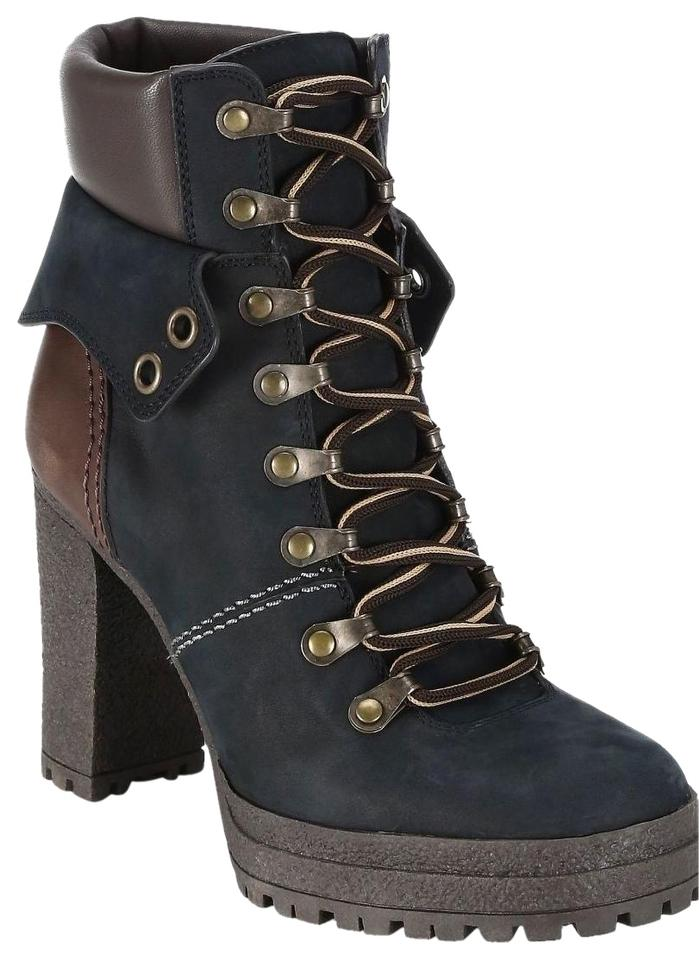 See By Chlo 233 Black New Eileen Platform Hiking Boots Booties Size Us 6 Regular M B