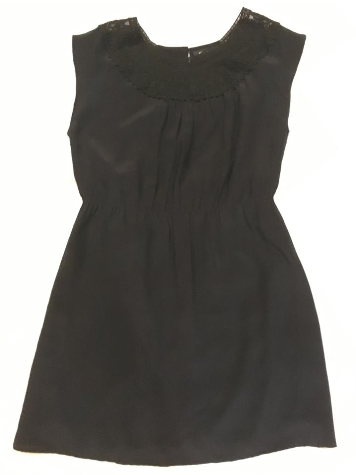 36375bd9 MM Couture Black Silk Short Cocktail Dress Size 8 (M) - Tradesy
