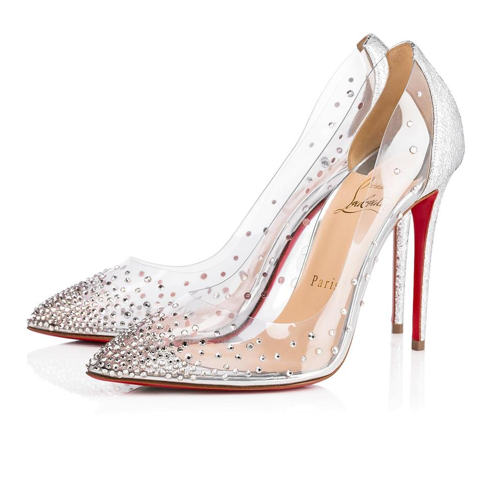 d0f96faceeb Christian Louboutin Pigalle Follies Strass Crystal Degrastrass silver Pumps  Image 0 ...