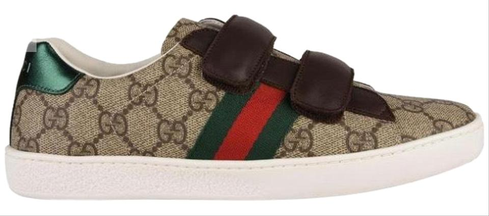 d43fede81e8 Gucci Junior Unisex New Ace Web Trainers Sneakers Size EU 34 (Approx ...