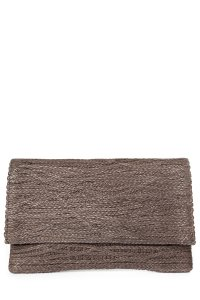 Jay Ahr taupe Clutch