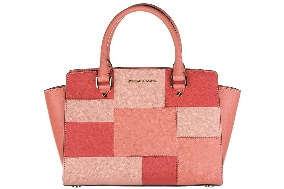 57c0130412 Michael Kors Selma Selma Medium Satchel in Pink Grapefruit Image 0 ...