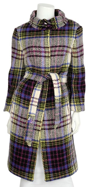 Item - Purple White and Multi Color Tweed Coat Size 6 (S)