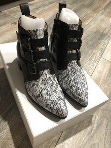 RAYE Leather Snakeskin Natural/snake black Boots