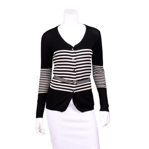 Louis Vuitton Striped Cashmere Knit Belted Longsleeve Sweater