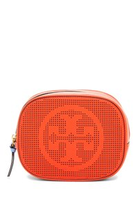 Tory Burch Tory Burch Logo Perforated Leather Cosmetic Case Zumba