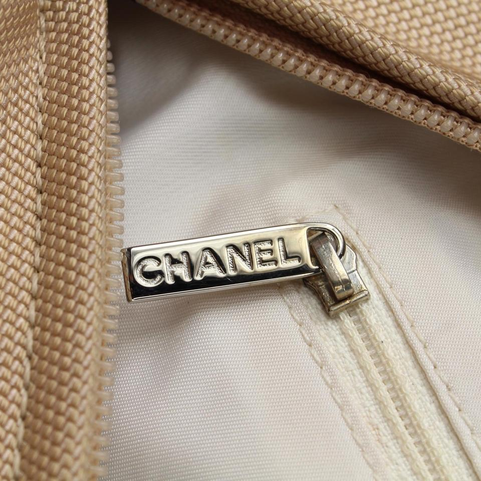 2d11156a25d0 Chanel Biarritz Paris-biarritz Metallic Quilted Coated Gold Canvas ...