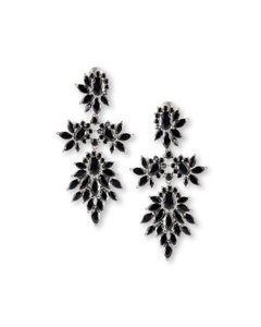 Fallon Crystal Cluster Marquis Statment Earrings