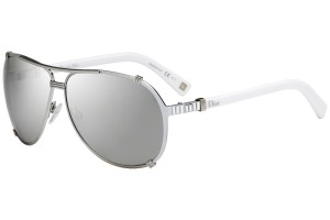 88e512f43d1 Dior NEW Dior Chicago2 Strass White Aviator Mirrored Sunglasses