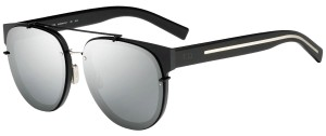 Dior NEW Dior Blacktie 143SA Matte Mirrored Silver Aviator Sunglasses