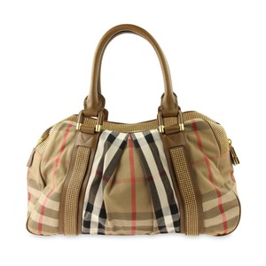 Burberry Nova Studded Canvas Ashbury Satchel in Beige d88a436ac9828