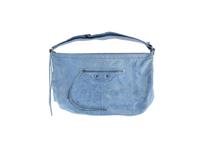 Item - Motocross Classic Courier Distressed Blue Leather Weekend/Travel Bag