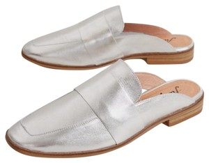 Free People silver Mules