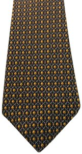 Hermès Hermès Black/Yellow Printed Silk Tie