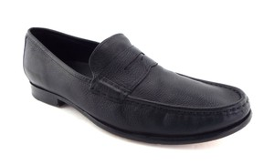 Cole Haan Black Leather Nike Air Men's Slip-on Penny Loafers Shoes