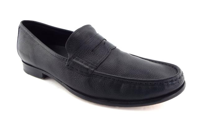 Item - Black Leather Nike Air Men's Slip-on Penny Loafers Shoes