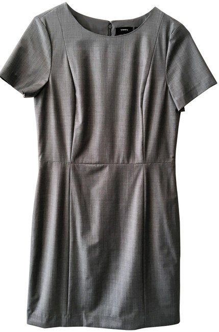 Item - Light Gray Classic Mid-length Work/Office Dress Size 10 (M)