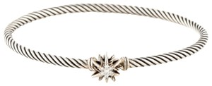 David Yurman Sterling silver David Yurman Diamond Starburst bracelet