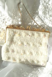 Vintage Crystal & Heavily Beaded Purse Handbag Clutch