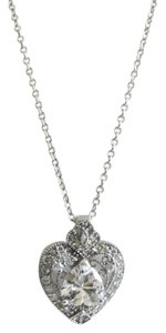 Victoria Wieck Victoria Wieck 18 Inch .925 Sterling Silver Absolute Heart Necklace Enhancer with Diamond Accents