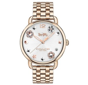 Coach Coach Women's Delancey Carnation Gold-Tone Bracelet Watch 36mm