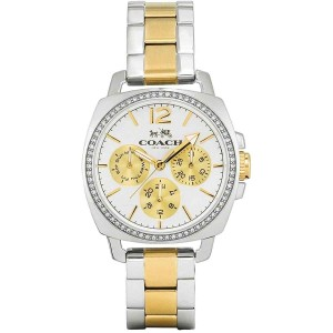 Coach Coach Women's Chronograph Boyfriend Two-Tone Bracelet Watch 34mm
